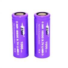 Аккумулятор Efest IMR 18500 F 1000 мАч 15A Li-Mn высокотоковый
